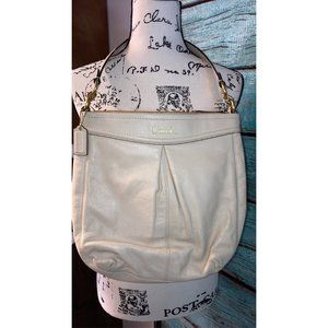 Cream Coach Hobo Shoulder Purse
